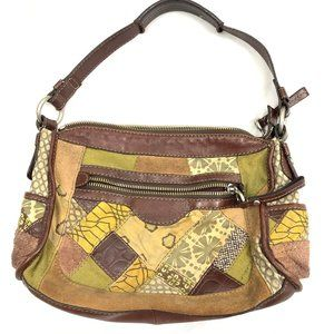 Fossil Leather Pattern Hobo Boho Hand Bag
